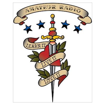 Love Amateur Radio Wall Art Poster
