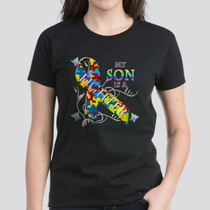My Son is a Fighter Women's Dark T-Shirt