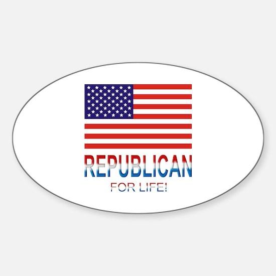 Republican Sticker (Oval)