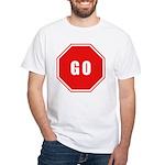 Stop Go White T-Shirt