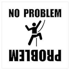 Climbing Problem Wall Art Poster