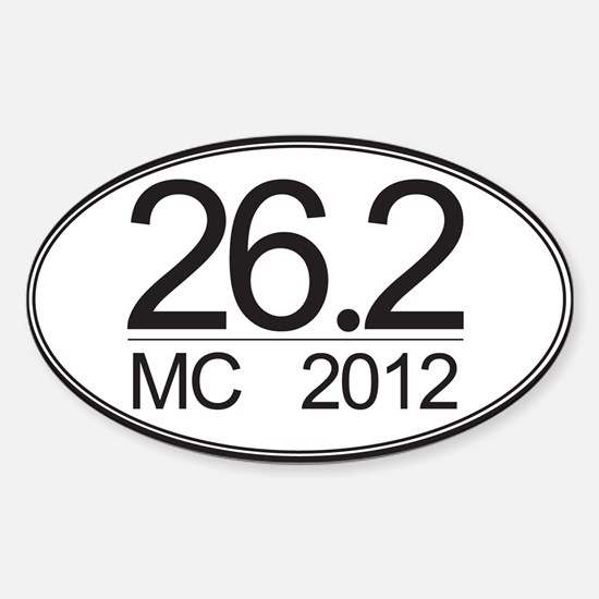 26.2 MC Marathon Sticker (Oval)