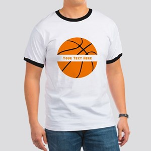 Basketball Personalized Ringer T
