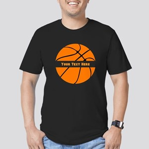 Basketball Personalize Men's Fitted T-Shirt (dark)