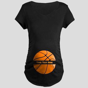 Basketball Personalized Maternity Dark T-Shirt