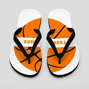 Basketball Personalized Flip Flops
