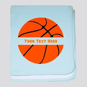 Basketball Personalized baby blanket