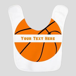 Basketball Personalized Polyester Baby Bib