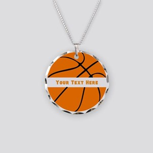 Basketball Personalized Necklace Circle Charm