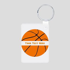 Basketball Personalized Aluminum Photo Keychain