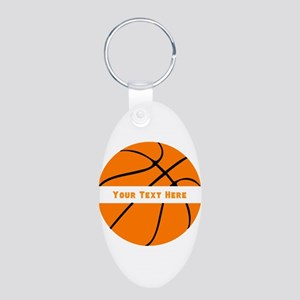 Basketball Personalized Aluminum Oval Keychain
