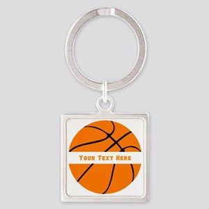Basketball Personalized Square Keychain