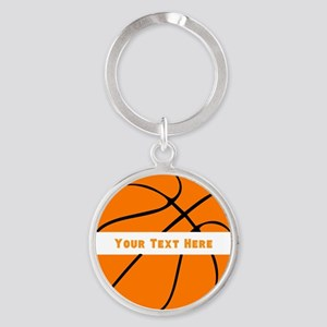 Basketball Personalized Round Keychain