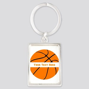 Basketball Personalized Portrait Keychain