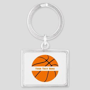 Basketball Personalized Landscape Keychain