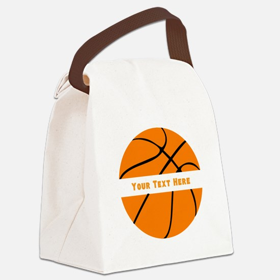 Basketball Personalized Canvas Lunch Bag