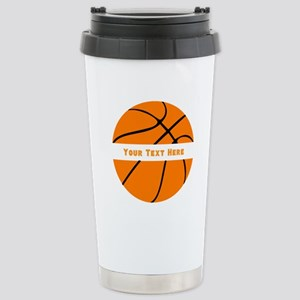 Basketball Person 16 oz Stainless Steel Travel Mug