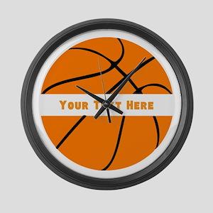 Basketball Personalized Large Wall Clock