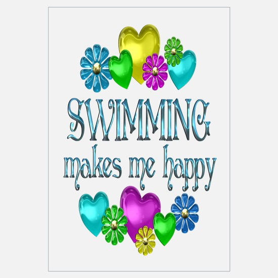 Swimming Happiness Wall Art
