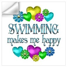 Swimming Happiness Wall Art Wall Decal