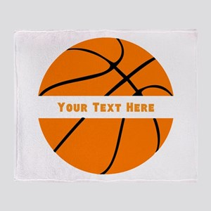 Basketball Personalized Throw Blanket