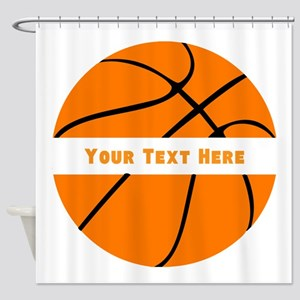 Basketball Personalized Shower Curtain