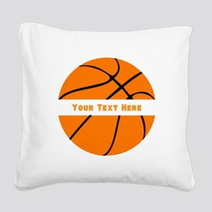 Basketball Personalized Square Canvas Pillow