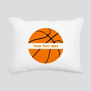 Basketball Personalized Rectangular Canvas Pillow