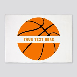Basketball Personalized 5'x7'Area Rug