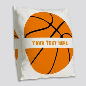 Basketball Personalized Burlap Throw Pillow