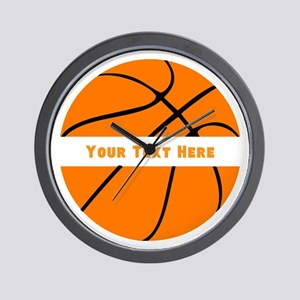 Basketball Personalized Wall Clock