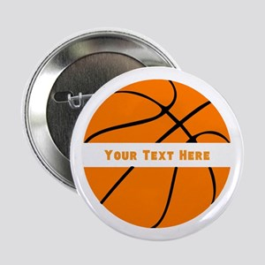"Basketball Personalized 2.25"" Button"