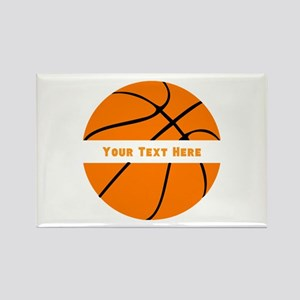 Basketball Personalized Rectangle Magnet