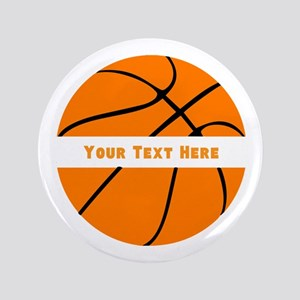 "Basketball Personalized 3.5"" Button"
