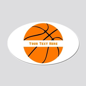 Basketball Personalized 20x12 Oval Wall Decal