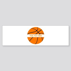 Basketball Personalized Sticker (Bumper)