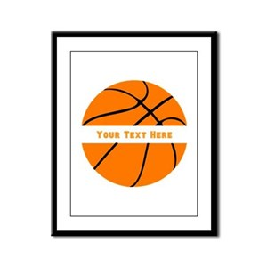 Basketball Personalized Framed Panel Print