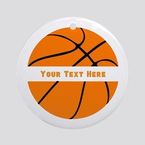 Basketball Personalized Round Ornament