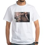 I Choose to Snooze Hippo Photo White T-Shirt