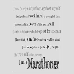 I Am a Marathoner Wall Art