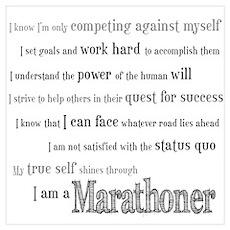 I Am a Marathoner Wall Art Poster