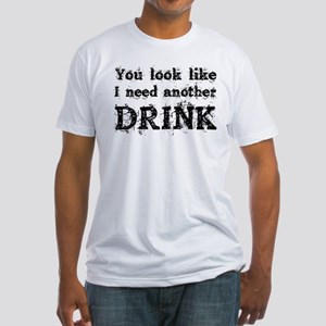 Drinking Humor Fitted T-Shirt