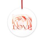 Love Rose Ornament (Round)
