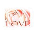 Love Rose 38.5 x 24.5 Wall Peel