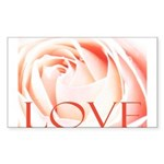 Love Rose Sticker (Rectangle 10 pk)