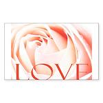 Love Rose Sticker (Rectangle)