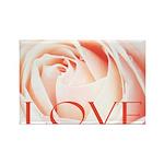 Love Rose Rectangle Magnet (10 pack)