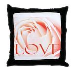 Love Rose Throw Pillow