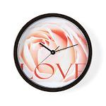 Love Rose Wall Clock