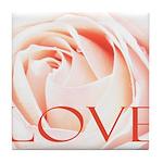 Love Rose Tile Coaster